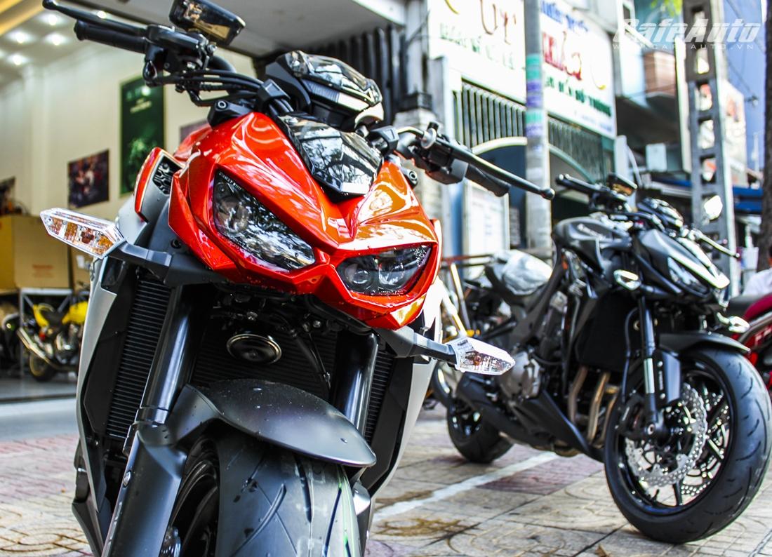 Cận cảnh Z1000 2014 màu cam đầu tiên tại Việt Nam