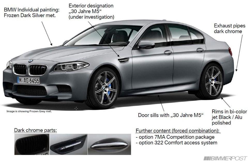 """BMW M5 phiên bản kỷ niệm lộ """"ảnh nóng"""""""