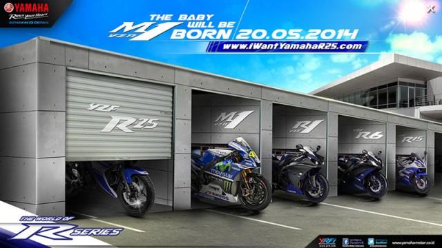 Yamaha R25 ra mắt vào ngày 20/5 tới