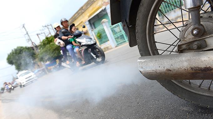 Hàng triệu xe máy phải kiểm định khí thải?