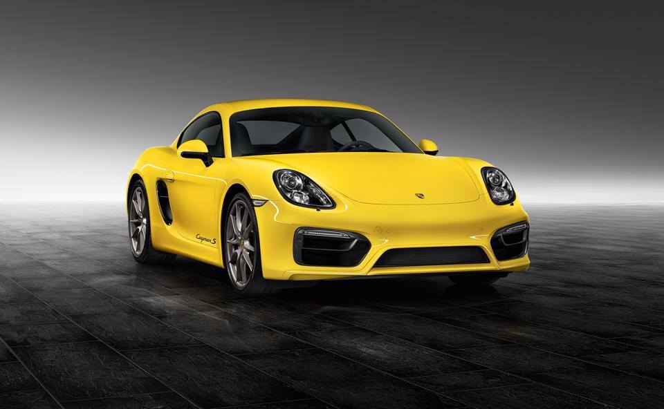 """Xe thể thao Cayman S """"vàng chóe"""" của Porsche Exclusive"""