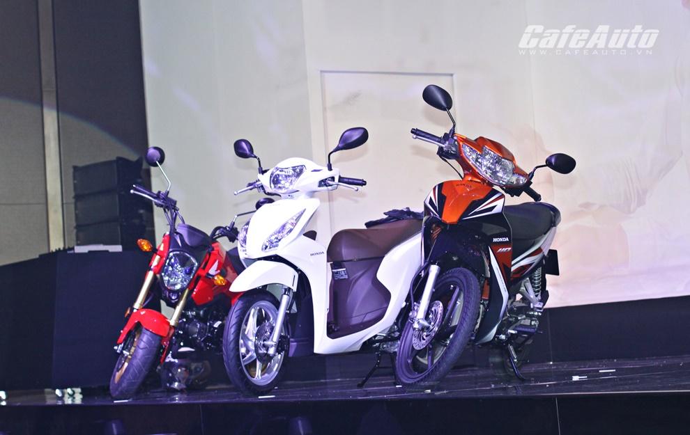Honda Việt Nam ra mắt cùng lúc 3 mẫu xe mới