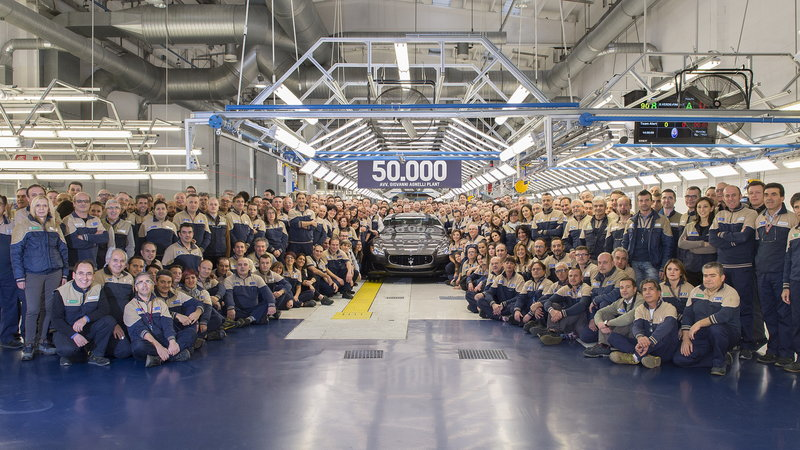 Maserati đạt cột mốc 50.000 xe được xuất xưởng