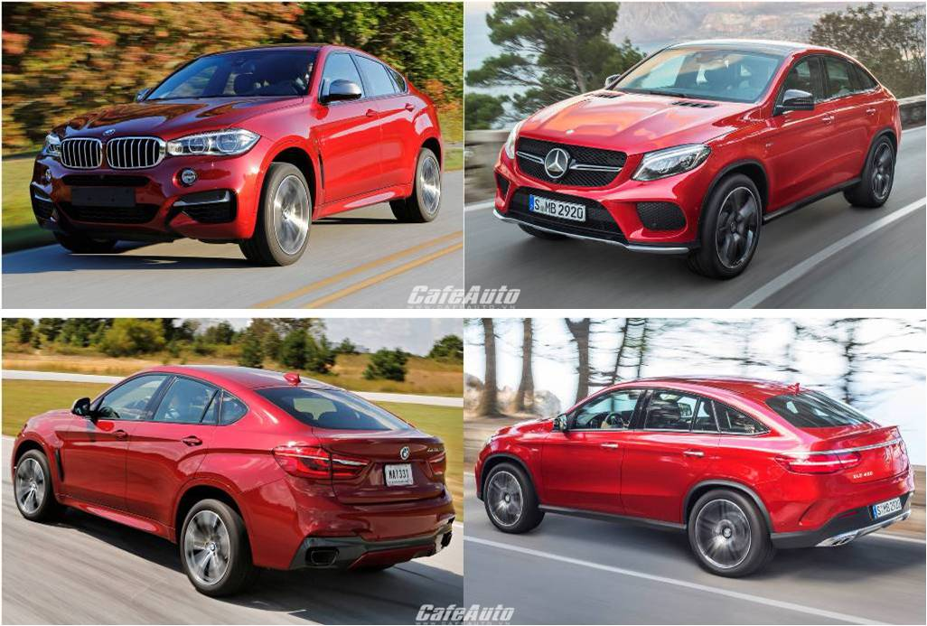 So sánh: Mercedes-Benz GLE Coupe và BMW X6