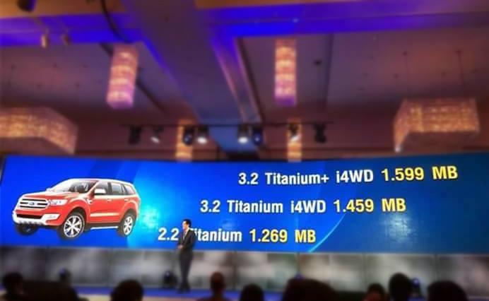 Ford Everest 2015 lộ giá bán tại Thái Lan