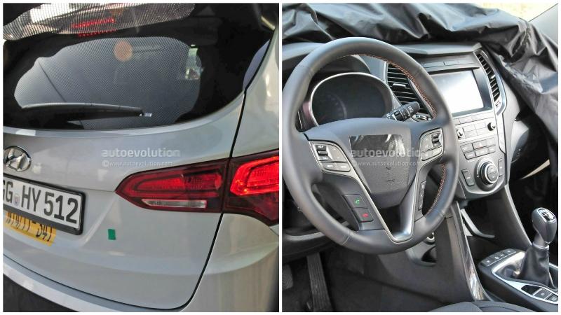 Hyundai Santa Fe 2017 lộ diện nội thất và thiết kế đèn hậu mới