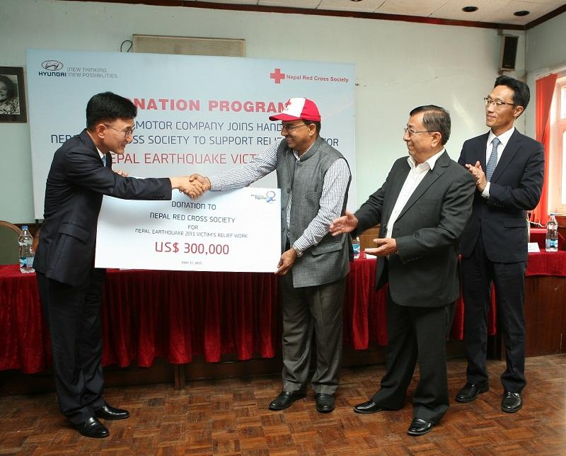 Hyundai ủng hộ nạn nhân động đất tại Nepal