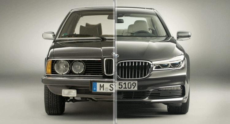 Xem BMW 7 Series biến đổi qua 38 năm