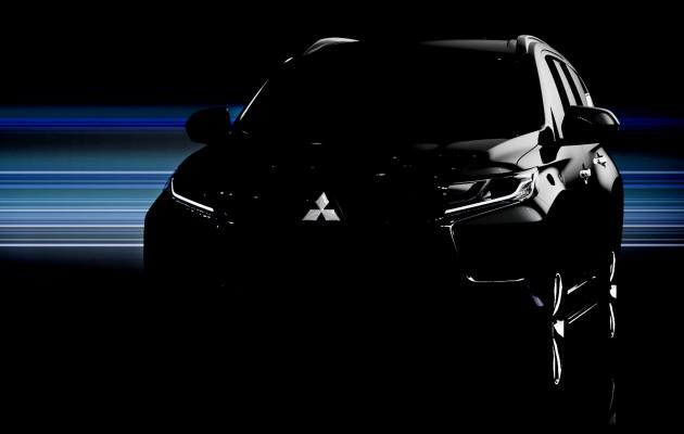 Tung teaser đầu tiên, Mitsubishi Pajero Sport 2016 sắp ra mắt ngày 1/8