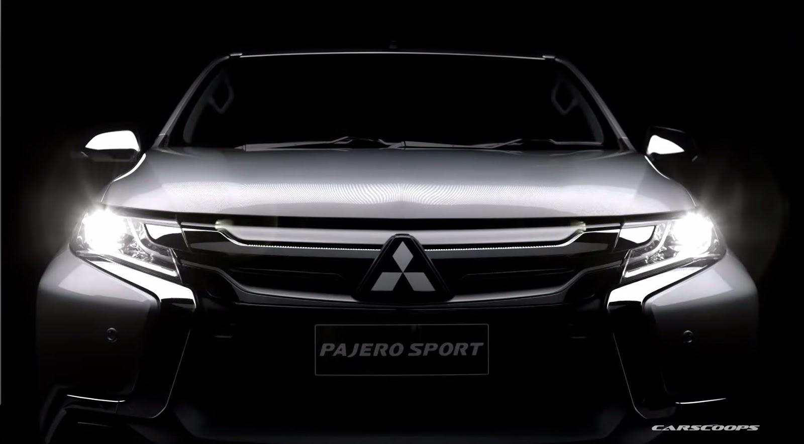 Pajero Sport xuất hiện hoàn toàn trong teaser mới nhất của Mitsubishi