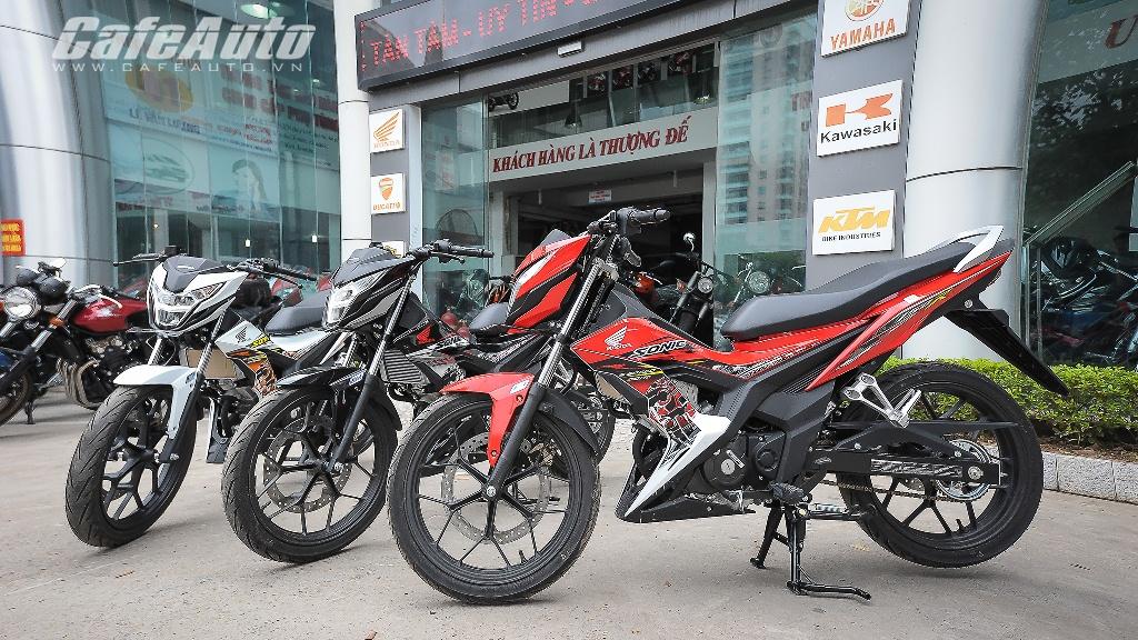 Honda Sonic 150R giá cao gấp đôi Raider tại Việt Nam