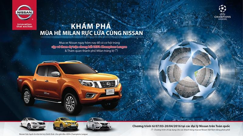 Mua xe Nissan – Trúng cặp vé xem chung kết Uefa Champions League tại Milan