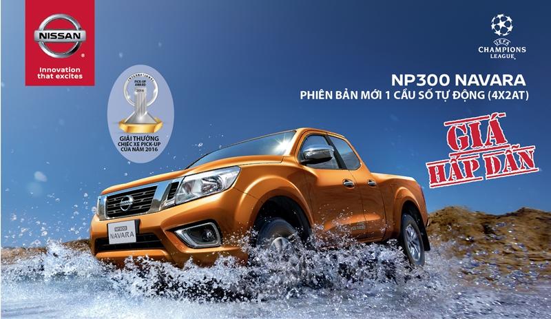 Nissan NP300 Navara phiên bản 1 cầu, số tự động hoàn toàn mới sẽ chính thức ra mắt vào giữa tháng 4/2016