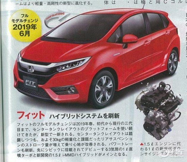 Honda Jazz 2019 sẽ có trọng lượng nhẹ hơn và trang bị động cơ mới