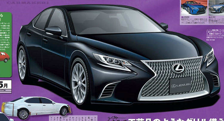 Lexus LS hoàn toàn mới sẽ được trình làng vào năm 2017