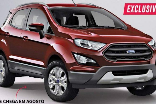 Ford EcoSport 2017 lộ ảnh phác thảo