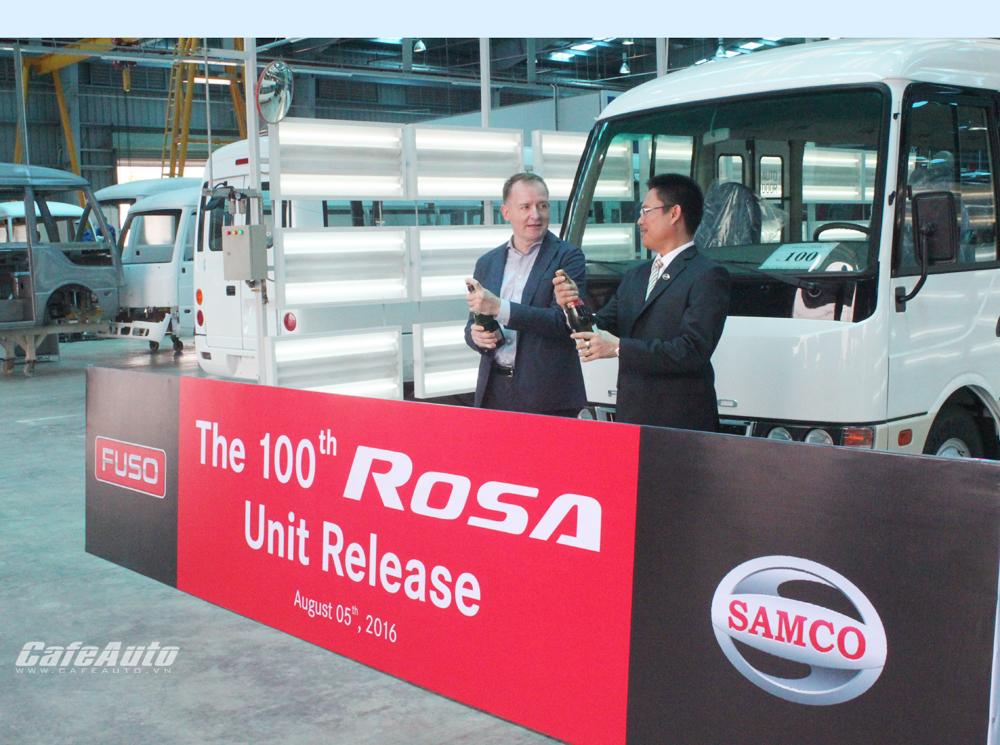 Fuso xuất xưởng chiếc xe Rosa thứ 100 tại Việt Nam