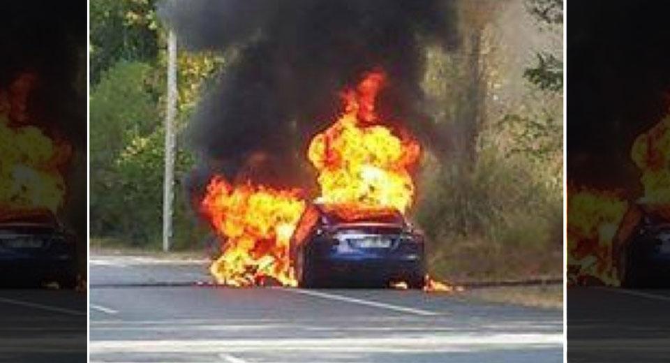 Tesla Model S bốc cháy khi đang chạy thử