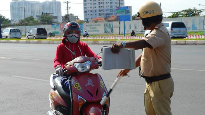 Những cảnh sát có quyền xử phạt giao thông