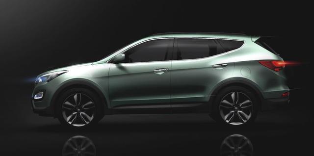 Hyundai Santa Fe 2013 đã lộ diện