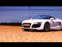 Solo Giữa Audi R8 V10 Spyder Và Lamborghini Gallardo Với Mô tô BMW S1000RR
