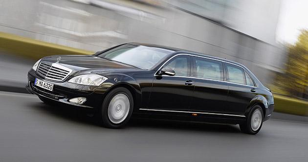 2009mercedessl600pullmanguardsmall0923636x360 1407144783 Trình làng Mercedes S600 Pullman: Sedan đắt nhất thế giới