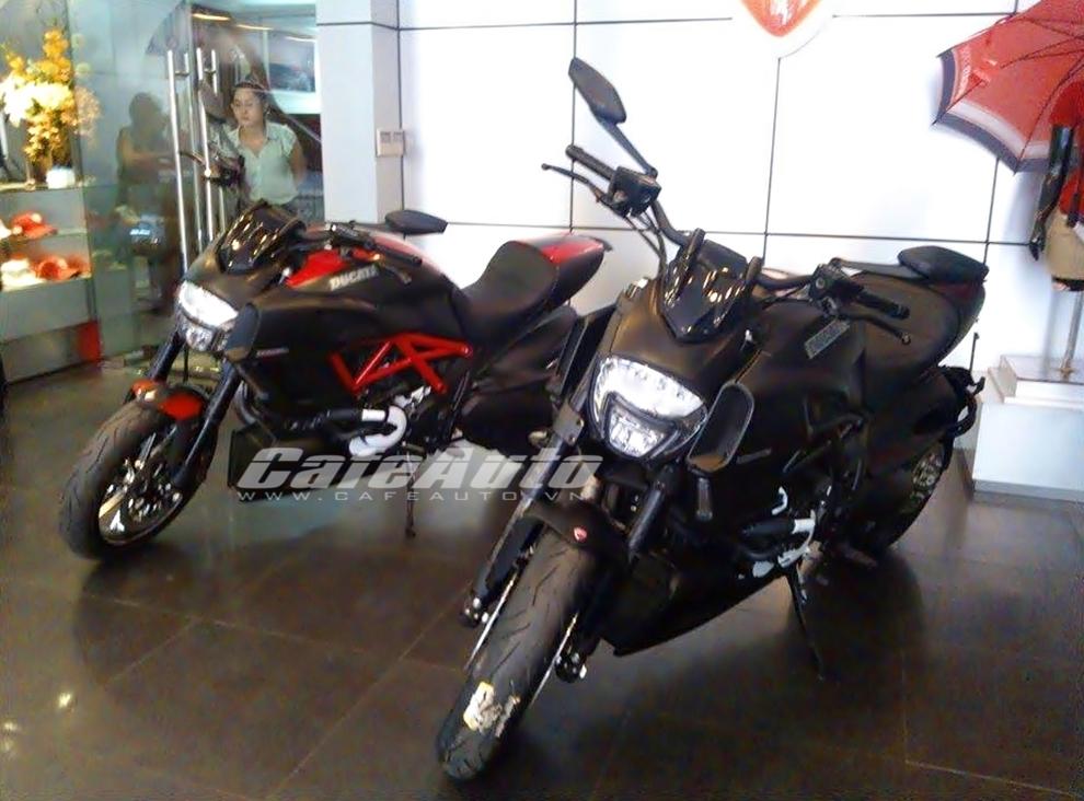 Cặp đôi Ducati Diavel 2015 bất ngờ xuất hiện tại Việt Nam