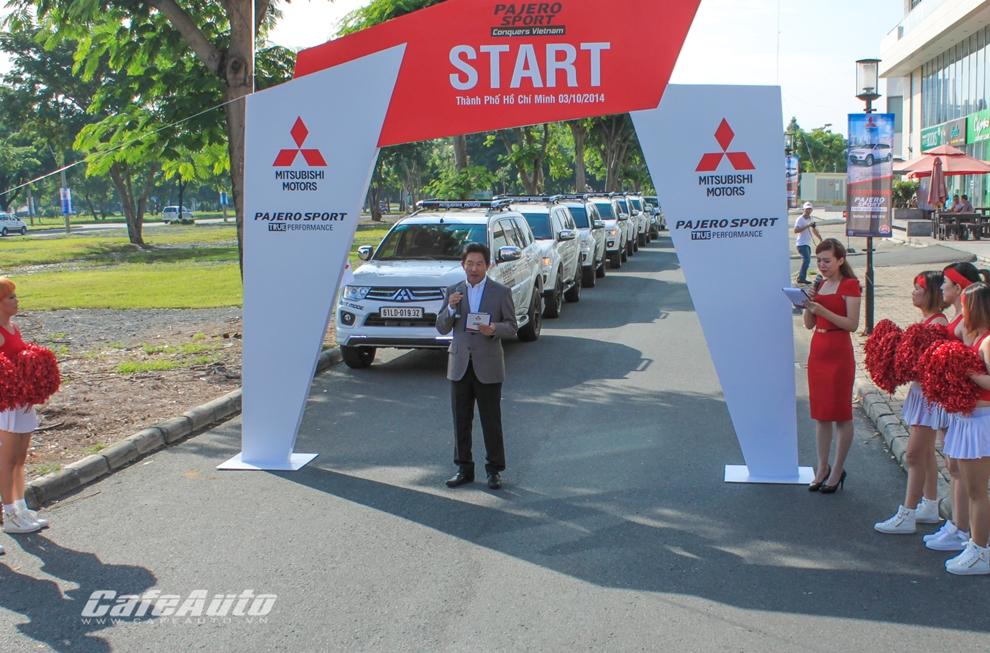 Hành trình Pajero Sport chinh phục Việt Nam chính thức xuất phát
