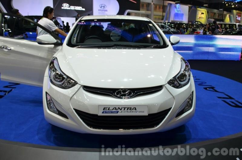 hyundaielantrafaceliftfrontatthe2014thailandinternationalmotorexpo1024x677 1418051695 Ngắm nhìn Hyundai Elantra facelift trình làng ở Thai Motor Expo