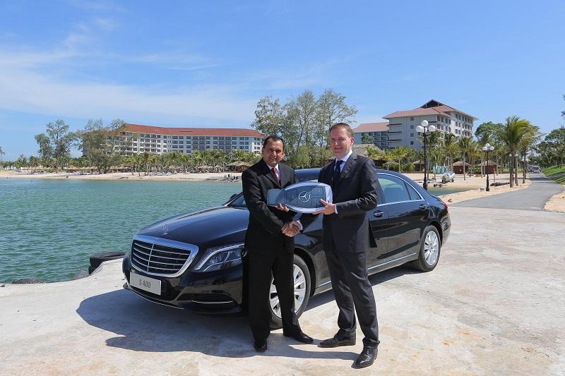 mer vinpearl pq 03 1418308048 Hãng xe Mercedes Benz Việt Nam bàn giao lô xe S 400 L cho Vinpearl Phú Quốc
