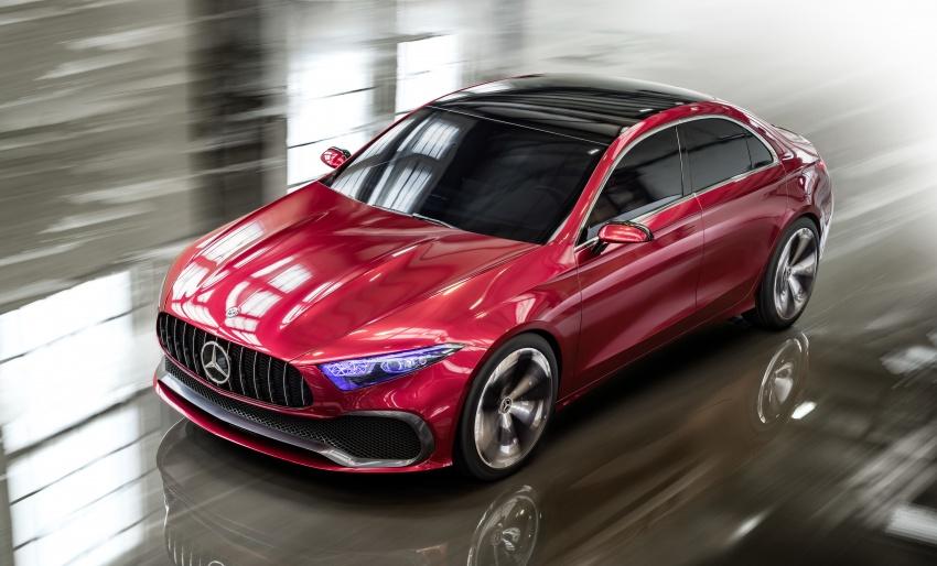 Cận cảnh Mercedes-Benz Concept A sedan - ảnh 5