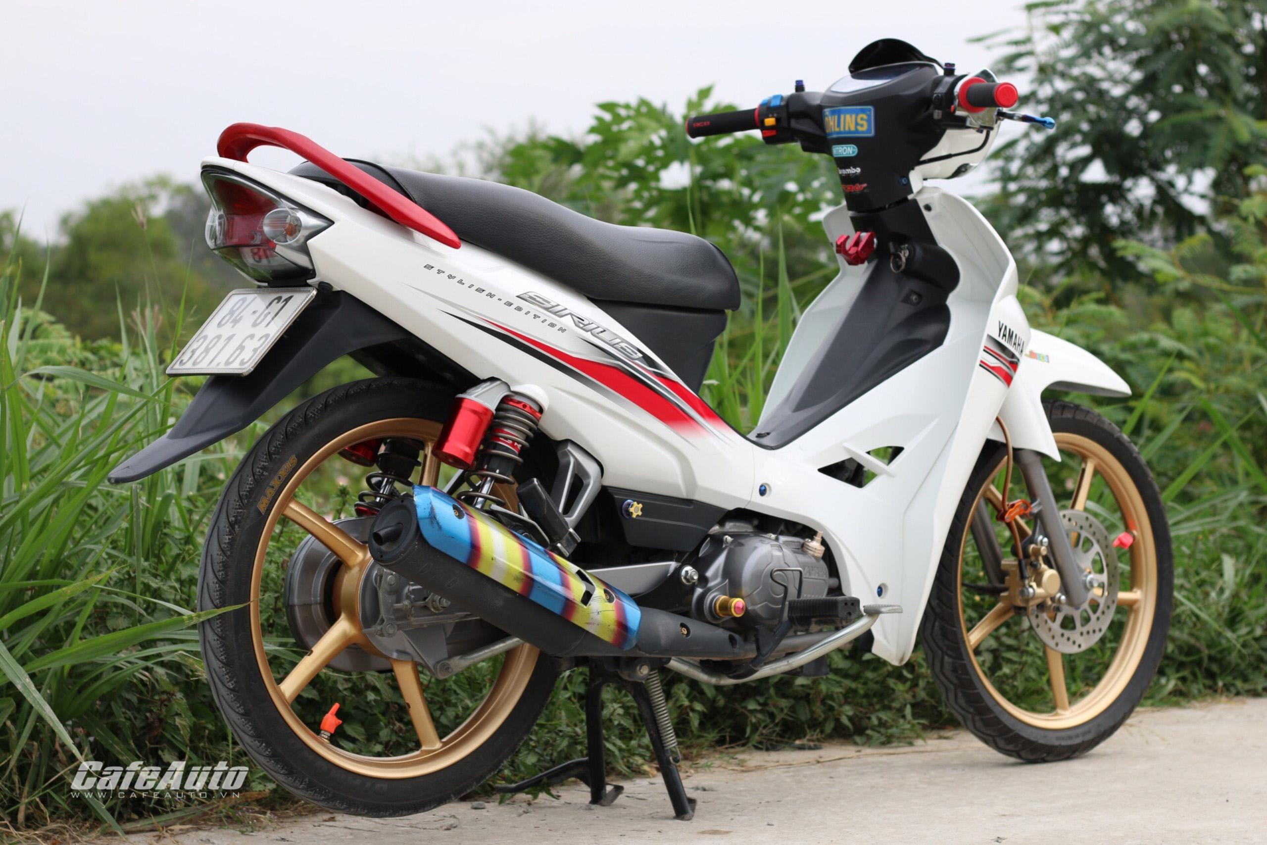 ... Yamaha Sirius độ nhẹ nhàng trắng ngọc trinh của biker miền Tây ...