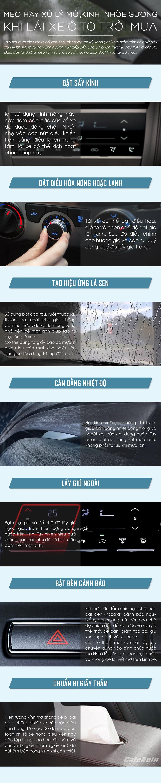 Mẹo  hay xử lý mờ kính, nhòe gương khi lái xe ô tô trời mưa