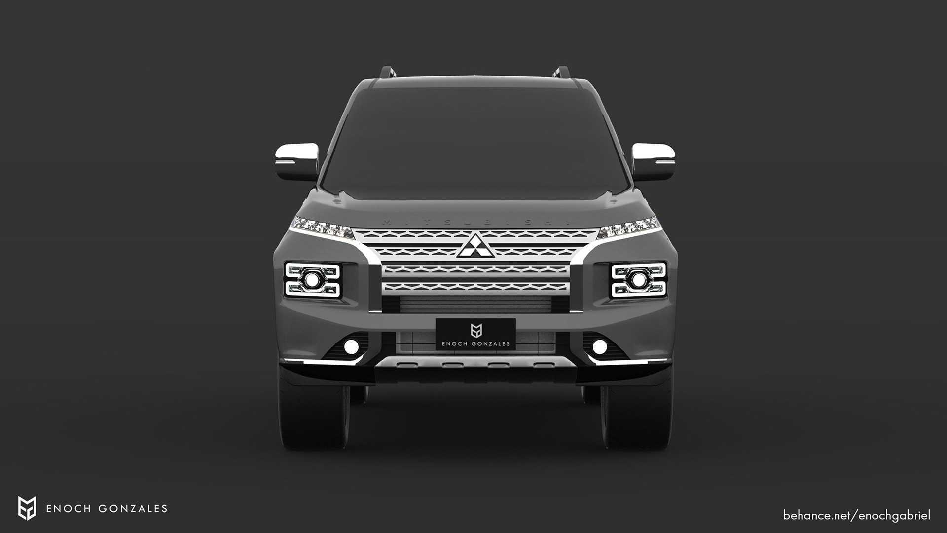Mitsubishi Pajero phiên bản 2021 dưới thiết kế của Motor1