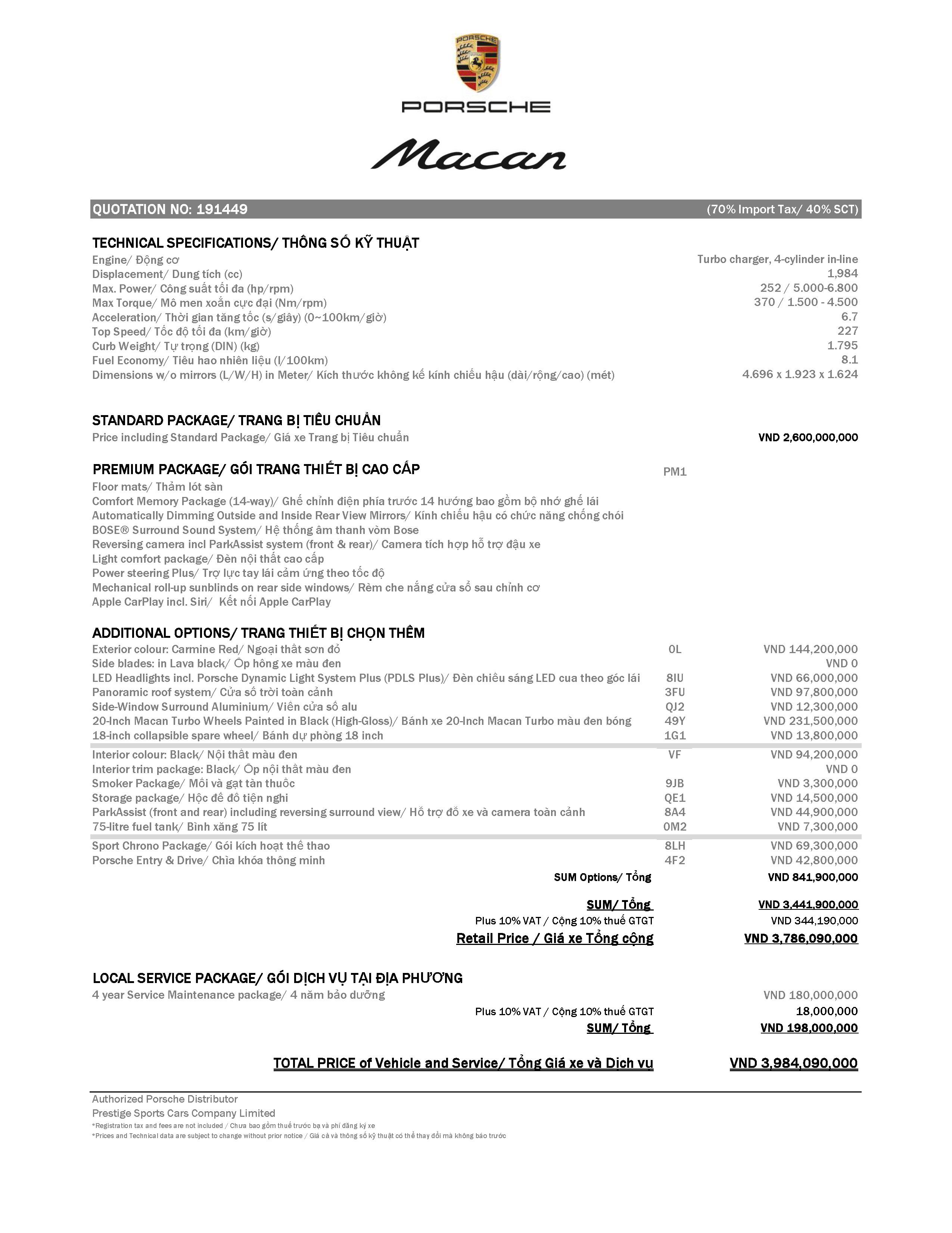 Porsche Macan 2019 có giá từ 3,1 tỷ đồng tại Việt Nam