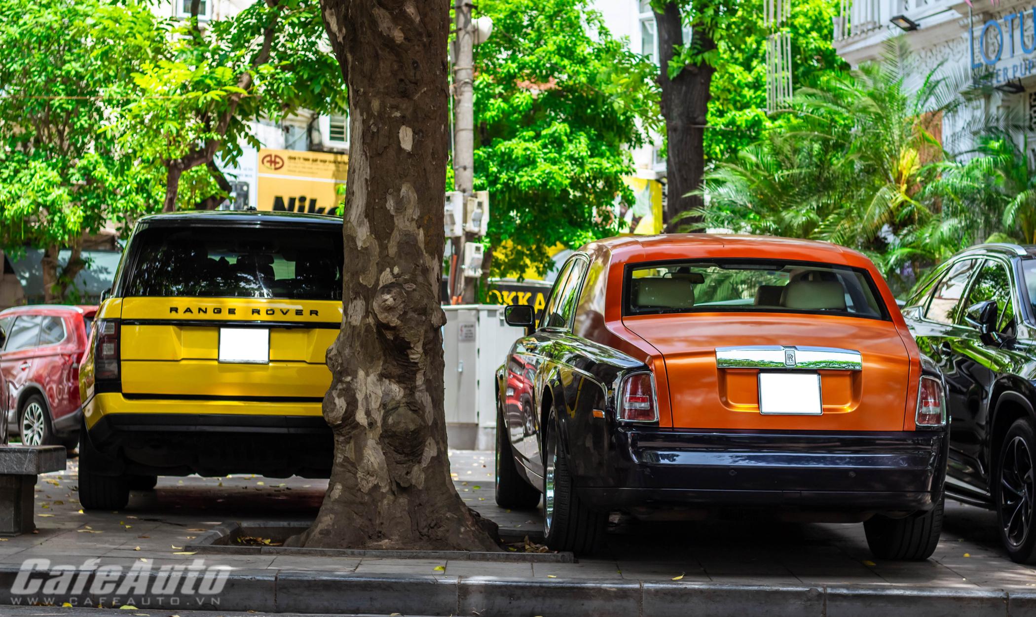 """Rolls-Royce Phantom """"sánh đôi"""" cùng Range Rover màu cực dị trên phố Hà Nội"""