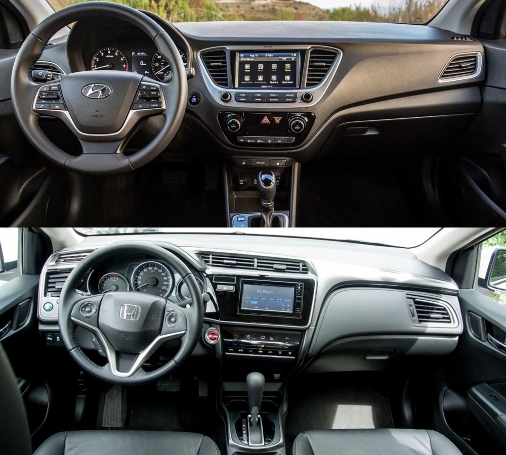 So sánh Hyundai Accent và Honda City 2020