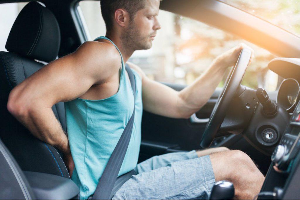 giảm đau lưng khi lái xe